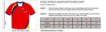 Junior Shirt Size Guide